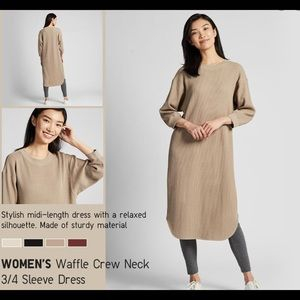 ⭐️3/30⭐️ Beige waffle dress size medium